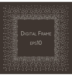 Intricate digital frame with small vector