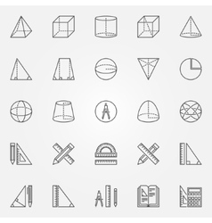 Geometry icons set vector image