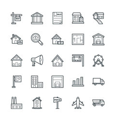 Real estate cool icons 2 vector