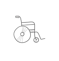 Wheelchair sketch icon vector