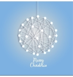 Christmas ball of luminous garlands vector