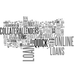 A guide to quick online loans text word cloud vector
