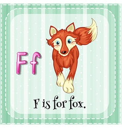 A letter f for fox vector
