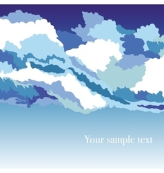 Abstrakt background with sky and clouds vector
