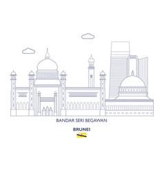 Bandar seri begawan city skyline vector