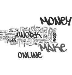 Be you own boss and make money online text word vector