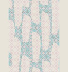 Brushed quatrefoil pastel rectangle rug vector