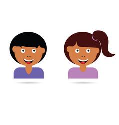 children cartoon happy vector image