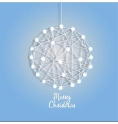 Christmas ball of luminous garlands vector image vector image