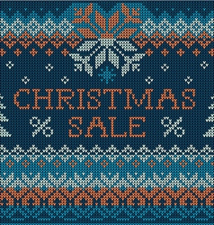 Christmas sale scandinavian style seamless knit vector