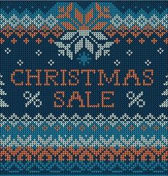 Christmas Sale Scandinavian style seamless knit vector image