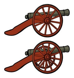 civil war cannon view side vector image