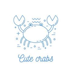 crab line art logotype vector image