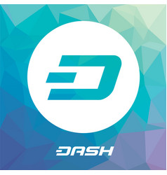 dash blockchain cripto currency logo vector image