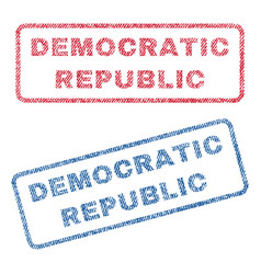 Democratic republic textile stamps vector