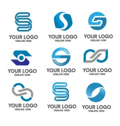 elegant letter s logo eps 10 vector image vector image