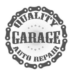 Garage auto vector