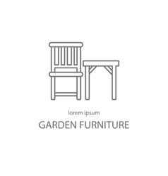 Garden furniture logotype design templates vector