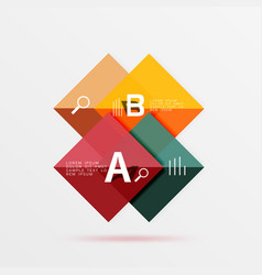 geometric square and triangle template vector image vector image