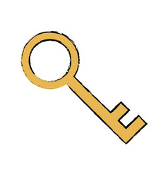 gold key security protection concept vector image