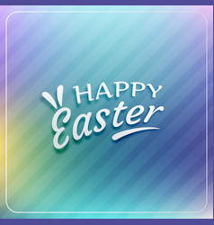 happy easter blurred background vector image
