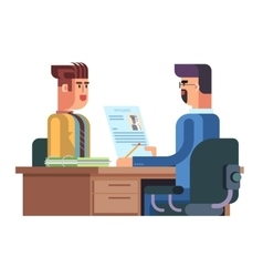 Job interview flat design vector image