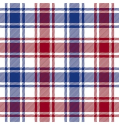 Red blue white check plaid texture seamless vector