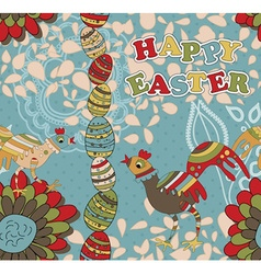 Seamless easter pattern can also be used as a vector