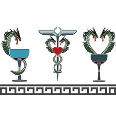 set of fantasy medical and pharmacy symbols vector image vector image