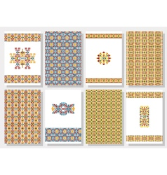 Set of tribal invitation cards vector image vector image