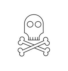 Skull icon vector