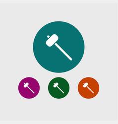 Sledgehammer icon simple vector