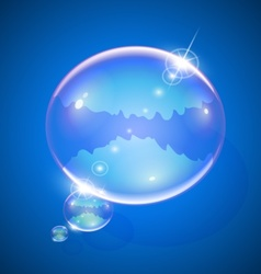 soap bubble for message vector image