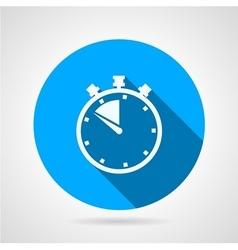 Stopwatch round flat icon vector image