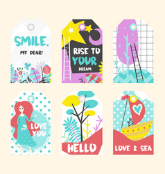 Summer tags collection vector