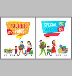Super price special offer card vector