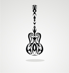 Tribal guitar vector