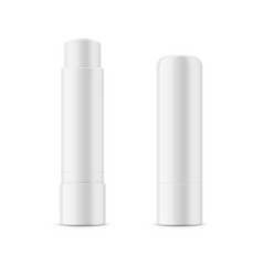 White glossy lip balm stick vector