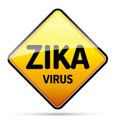 Zika virus warning sign with reflect and shadow vector
