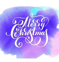 hand lettering inscription Merry Christmas on vector image