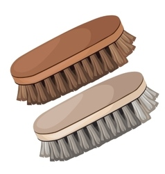 Vintage brush for cleaning shoes and clothes vector image