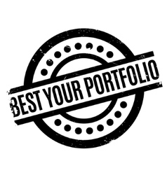 Best your portfolio rubber stamp vector