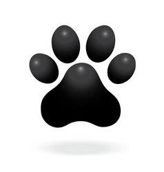 Dog or cat paw print flat icon for animal apps vector