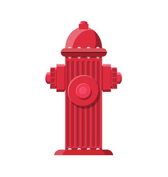Red fire hydrant fire equipment vector