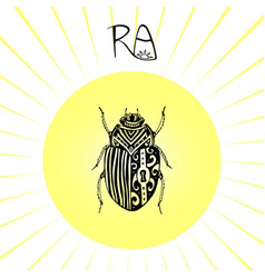 Scarab beetle tattoo art can be used for t-shirt vector