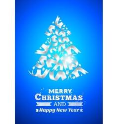 Abstract ribbon christmas tree vector