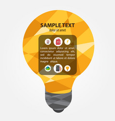 electric incandescent lamp project template vector image