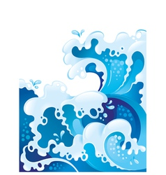 Giant ocean waves background vector image
