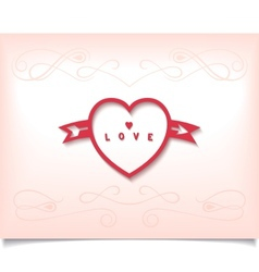 Heart with arrow and pattern vector