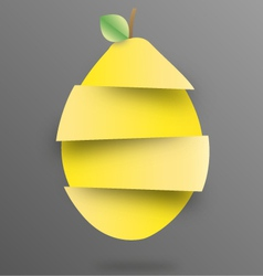Lemon sliced vector